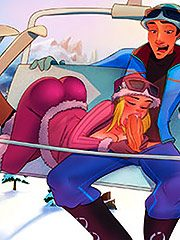 I'm feeling really hot - Animated tales: Skiing in the Alps by Welcomix (Tufos)
