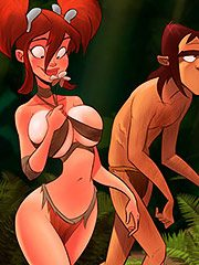 Come on, cavegirl, trust babu - Jurassic Tribe: Running from the Tyrannosaurus by welcomix (tufos)